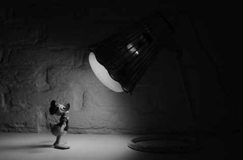 black-and-white-cartoon-donald-duck-spotlight